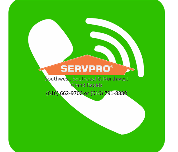Water Damage Call the CLEANUP TEAM SERVPRO® of Southwest Grand Rapids, Faster to any size disaster